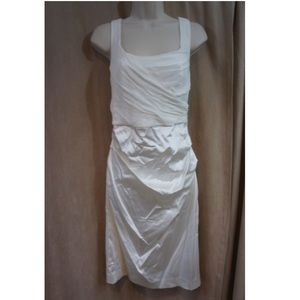 White Silk Dress NWOT Suzi Chin for Maggy Boutique